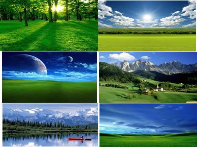 Fondos paisajes, en Cielos – Objetos paisajísticos