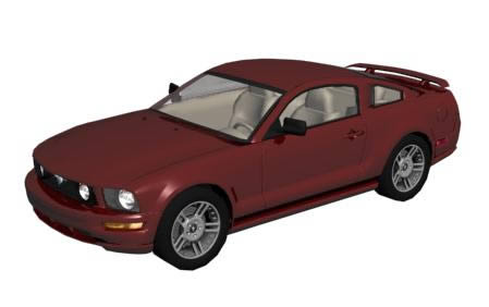 Ford mustang 3d, en Automóviles en 3d – Medios de transporte