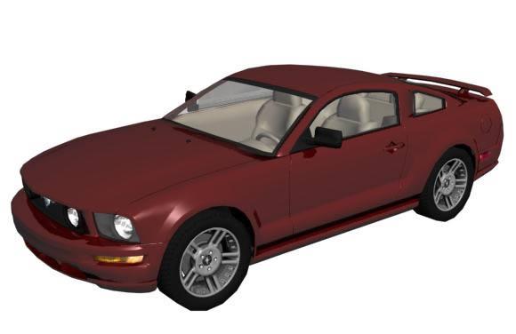 Ford mustang gt – automovil 3d, en Automóviles en 3d – Medios de transporte