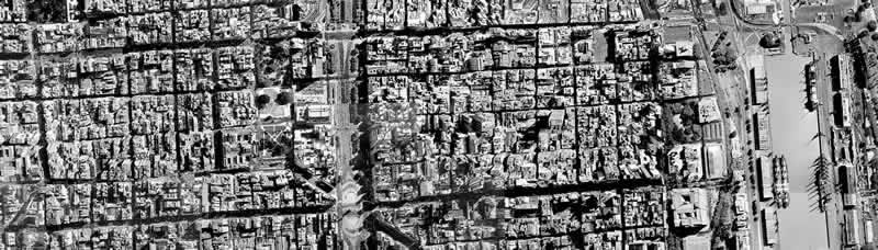 Planos de Foto aerea de area central de buenos aires, en Argentina – Diseño urbano
