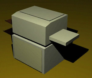 Fotocopiadora con base, en Oficinas y laboratorios – Muebles equipamiento