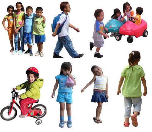 Fotografia de niños, en Fotografías para renders – Personas