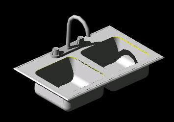Planos de Fregadero de cocina  3d, en Cocinas – Muebles equipamiento