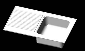 Planos de Fregadero escurridor 50×90, en Cocinas – Muebles equipamiento