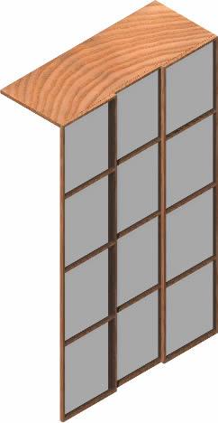 Planos de Frente armario 3d con materiales aplicados, en Dormitorios – Muebles equipamiento
