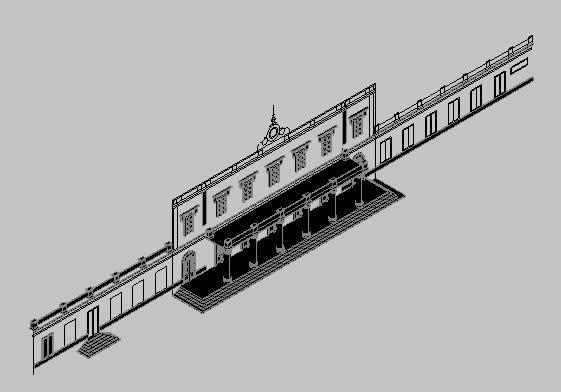 Planos de Frente estacion, en Restauraciones – Historia