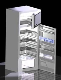 Planos de Frigrífico y congelador 3d, en Electrodomésticos – Muebles equipamiento