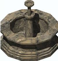 Planos de Fuente 3d, en Pérgolas fuentes y elementos decorativos – Parques paseos y jardines