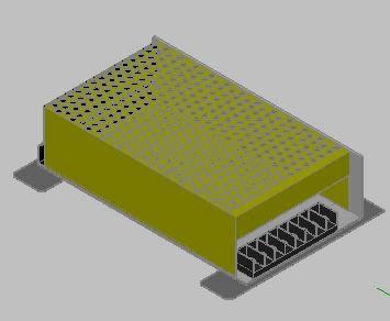 Planos de Fuente de voltaje 3d, en Componentes 3d – Electrónica