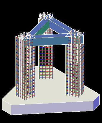 Planos de Fundacion y pedestales, en Estructuras de acero – Detalles constructivos