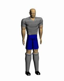 Futbolista 3d, en Personas – Discapacitados
