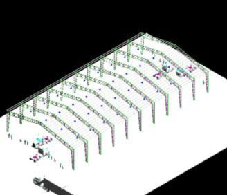 imagen Galpon 3d, en Cubiertas - estructuras - Detalles constructivos