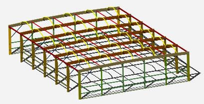 imagen Galpon madera 3d, en Galpones - Proyectos