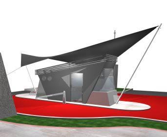 imagen Garita 3d, en Accesos - Proyectos