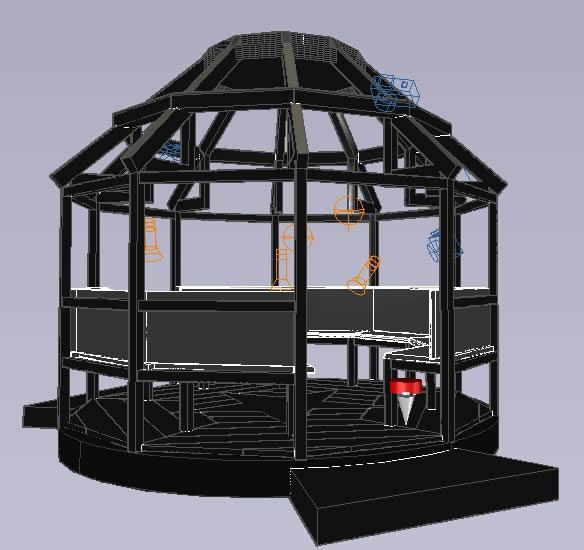 Planos de Gazebo  16 pies de diametro, en Pérgolas fuentes y elementos decorativos – Parques paseos y jardines