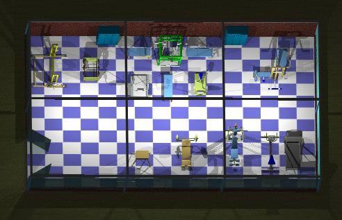 imagen Gimnasio 3d, en Proyectos gimnasios - Deportes y recreación