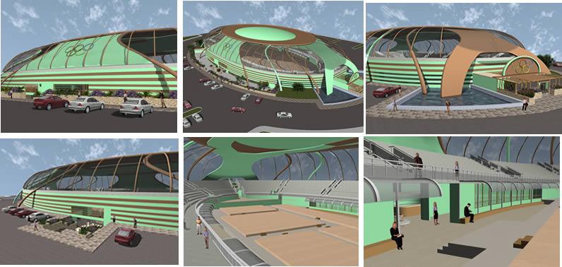 imagen Gimnasio olimpico 3d, en Proyectos estadios - Deportes y recreación