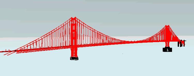 Planos de Golden puente, en Obras famosas – Proyectos