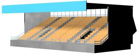 Gradas techadas 3d, en Proyectos estadios – Deportes y recreación