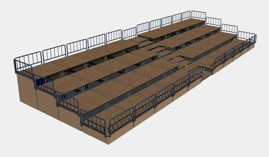 Planos de Graderia 3d, en Equipamiento – Parques paseos y jardines