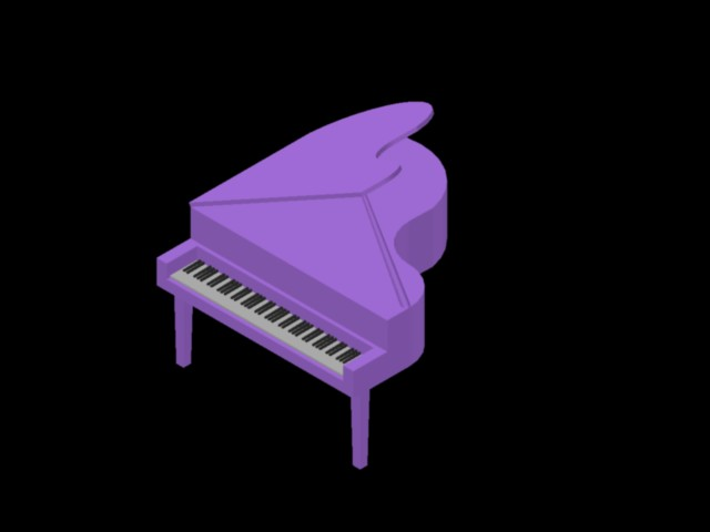 Planos de Gran piano de niños, en Instrumentos musicales – Muebles equipamiento