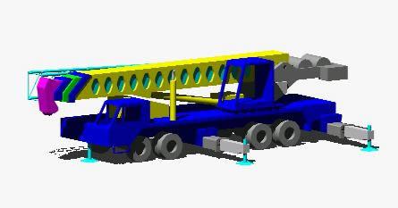 Planos de Grua-100 ton 3d, en Camiones – Medios de transporte