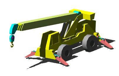 Planos de Grua-18 ton 3d, en Camiones – Medios de transporte