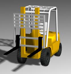 Grua horquilla – mulita de carga, en Utilitarios – Medios de transporte
