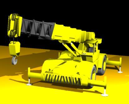 imagen Grua telescopica 3d, en Maquinaria - Obradores