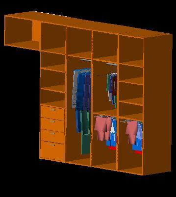 imagen Guardarropa 3d, en Estanterías y modulares - Muebles equipamiento