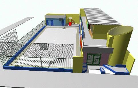 Guarderia niños 3d, en Asilos y residencias comunitarias – Proyectos