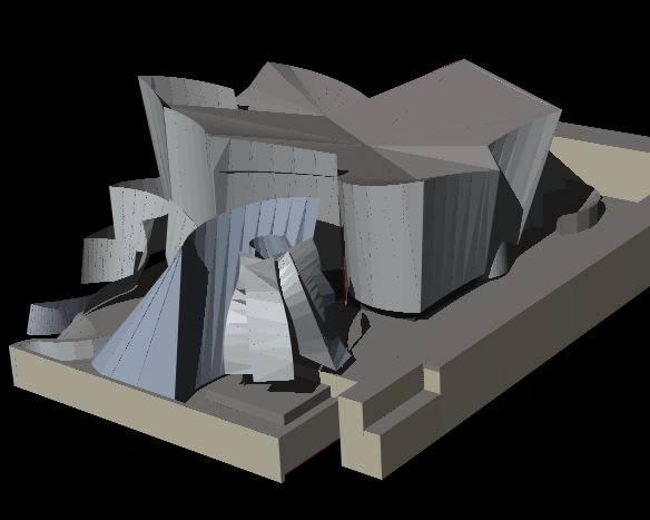 Planos de Guguengeim bilbao modelo en 3d, en Obras famosas – Proyectos