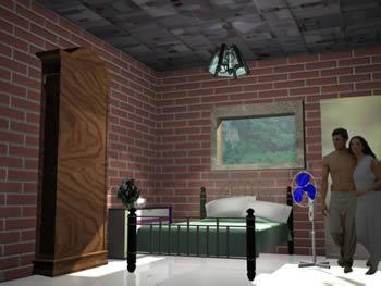 imagen Habitacion 3d max, en Vivienda unifamiliar - Proyectos
