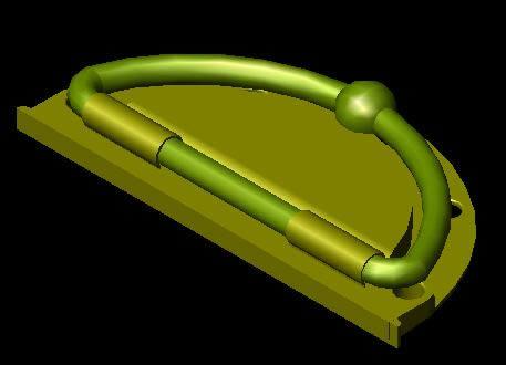 Planos de Halador bronce 3d, en Herrajes cerraduras tornillos – Aberturas