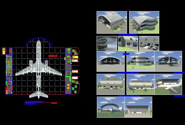 imagen Hangar tipico, en Aeropuertos - Proyectos