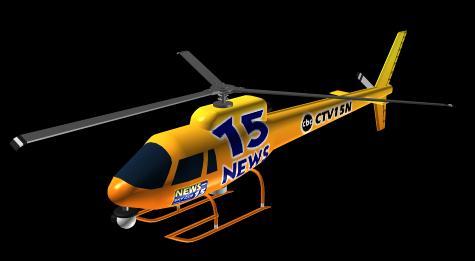 Helicoptero 3d, en Aeronaves en 2d