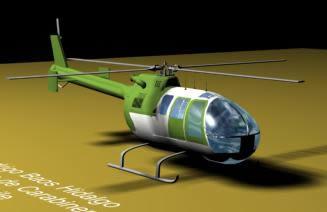Helicoptero en 3d, en Aeronaves en 3d – Medios de transporte