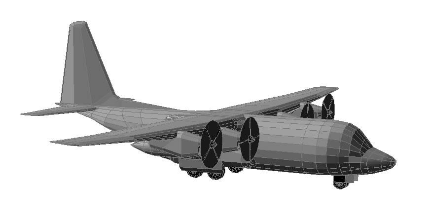 Planos de Hercules c100 3d, en Aeronaves en 3d – Medios de transporte