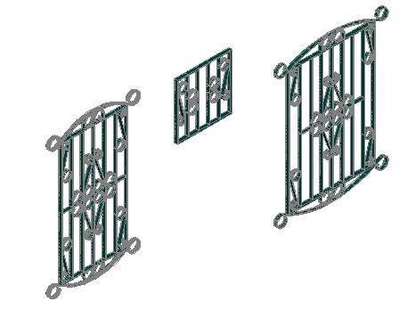 Planos de Herreria de ventana 3d, en Herrería artística