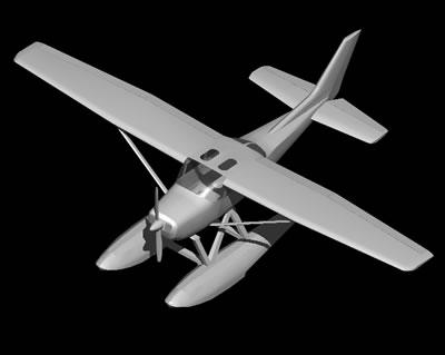 Planos de Hidro avion 3d con materiales aplicados, en Aeronaves en 3d – Medios de transporte