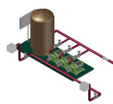 Planos de Hidroneumatico-3d, en Equipos de bombeo – Máquinas instalaciones