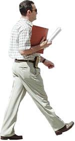 Hombre caminando con mapa de opacidad, en Fotografías para renders – Personas