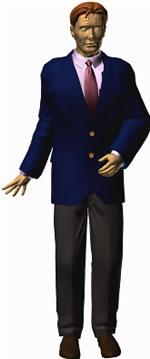 Hombre de traje 3d, en 3d – Personas
