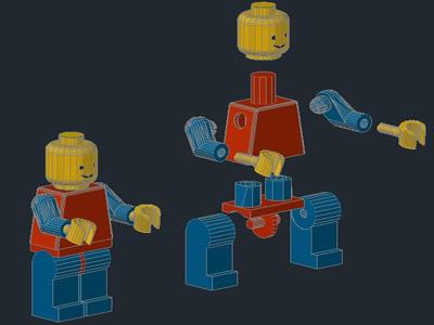 Planos de Hombre lego 3d figura, en Juegos – Muebles equipamiento