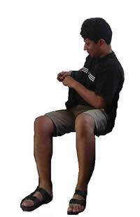 Hombre sentado, en Fotografías para renders – Personas