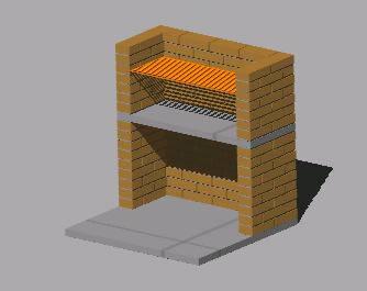 Planos de Hornilla para balneario materiales aplicados, en Quinchos – churrasquerías – cocinas alternativas – Parques paseos y jardines