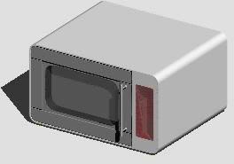 Planos de Horno de microondas 3d, en Electrodomésticos – Muebles equipamiento
