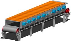 Planos de Horno de resistencias con transportacion por rodillo, en Maquinaria para industria de la alimentación – Máquinas instalaciones