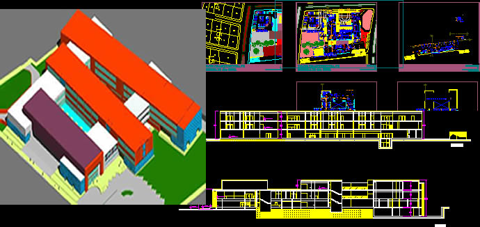 Planos de Hospital de 2do grado 3d, en Proyectos – Hospitales