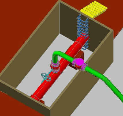 Planos de Hot tapping; de un gasoducto de 30 pulgadas de diametro, en Gas y combustibles – Infraestructura